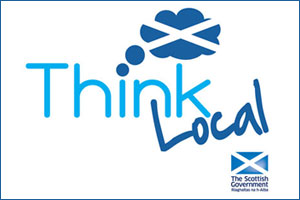 Scottish Government Think Local logo